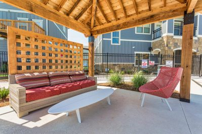 Outdoor Lounge at The Station Buffalo